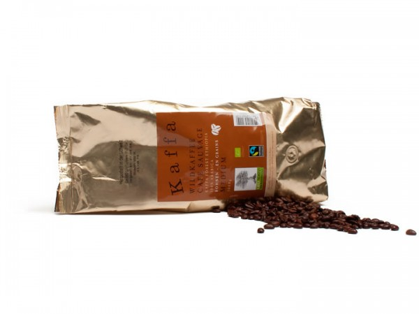 Kaffa Wildkaffee Medium ganze Bohnen