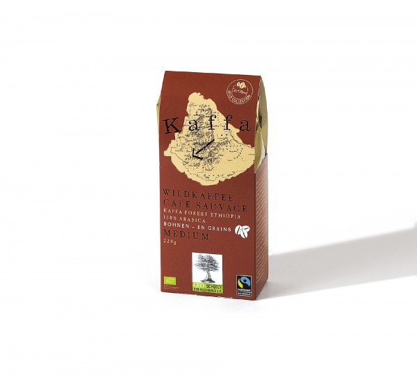 Kaffa Wildkaffee Medium 220g ganze Bohnen