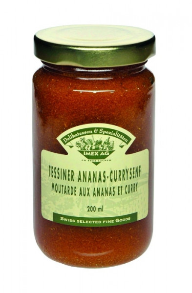 Tessiner Ananas-Curry-Senf - 200ml