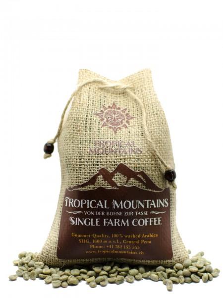 Kaffee roh für Heimröster - Peru Paradise