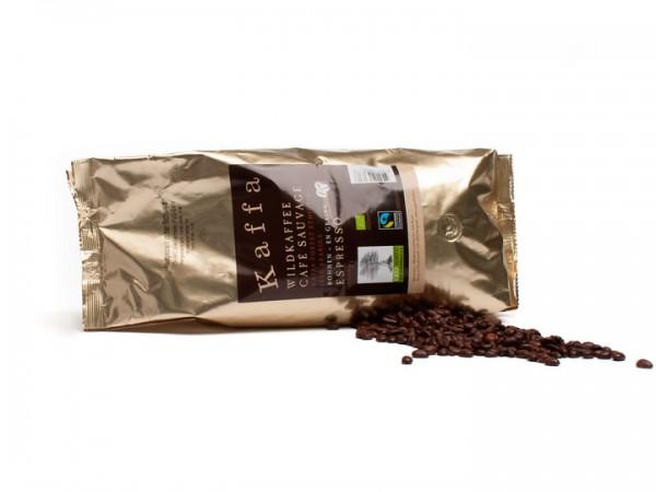 Kaffa Wildkaffee Espresso ganze Bohnen