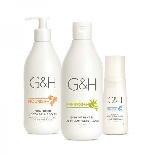 Körperpflege-Set für trockene Haut - G&H