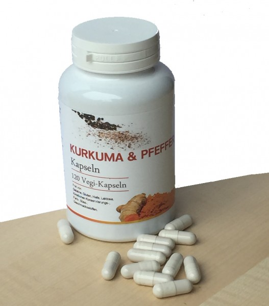 Kurkuma & schwarzer Pfeffer Kapseln - 120